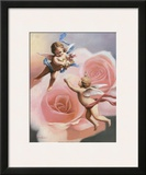 Cherubs' Rose Prints by T. C. Chiu