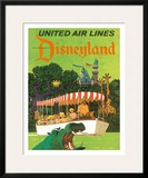 United Airlines Disneyland, Anaheim, California, 1960s Framed Giclee Print by Stan Galli