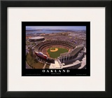 Oakland: Network Associates, Athletics Baseball Poster by Mike Smith