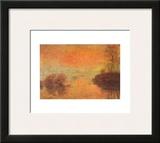 Tramonto Sulla Senna Poster by Claude Monet