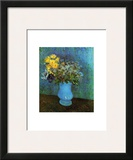 Vase with Lilacs, Daisies and Anemone Posters by Vincent van Gogh