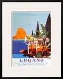 Lugano Poster by Daniele Buzzi
