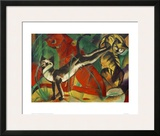 Three cats Framed Giclee Print by Franz Marc