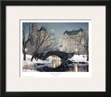 Twilight In Central Park Print by Rod Chase