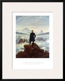 The Wanderer Above the Sea of Fog, 1818 Print by Caspar David Friedrich