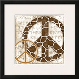 Peace Giraffe Prints by Jennifer Pugh