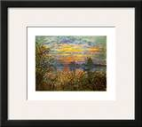 Tramonto a Lavacourt Prints by Claude Monet