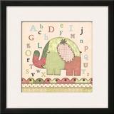 Alphabet Elephant Posters by Jo Moulton