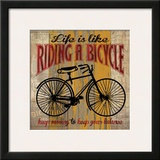 Life is Like Riding a Bicycle Print by Maria Donovan