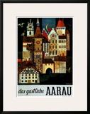 Aarau Poster by Roland Guignard