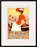 L'Ete dans les Grisons Suisse Prints by Jacob Bollsschweiller