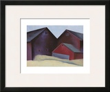 Ends of Barns Prints by Georgia O'Keeffe