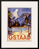 Gstaad Posters by Otto Baumberger