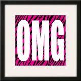 OMG Zebra Posters by Louise Carey