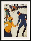 Winter in Davos Print by Burkhard Mangold