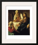 Christ in the House of Mary & Martha Framed Giclee Print by Jan Vermeer