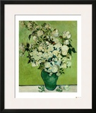 A Vase of Roses, c.1890 Framed Giclee Print by Vincent van Gogh