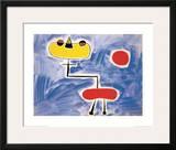 Figur Vor Roter Sonne Art by Joan Miró