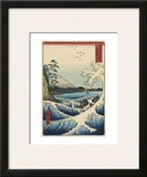 The Sea off Satta in Suruga Province (Suruga Satta kaij), 1858 Prints by Ando Hiroshige