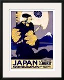 Japanese Art Exhibit, c. 1909 Framed Giclee Print