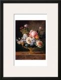 Fleurs dans un Vase de Porceleine Bleue, c.1780 Posters by Anne Vallayer-coster