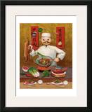 Wok-Man, Chinese Chef Framed Giclee Print by John Howard