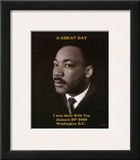 Martin Luther King Jr A Great Day President Barack Obama's Inauguration Art