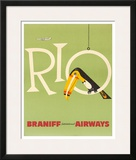 Braniff Air Rio c.1960s Framed Giclee Print