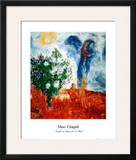 Couple au Dessus de St Paul Prints by Marc Chagall