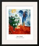 Couple Au Dessus St. Paul Lámina por Marc Chagall