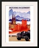 Motoring in Germany Framed Giclee Print