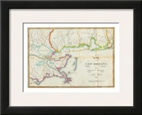 Map of New Orleans and Adjacent Country, c.1815 Prints by John Melish