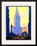 Union Terminal Cleveland, New York Central Framed Giclee Print by Leslie Ragan