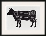 Cow Framed Giclee Print