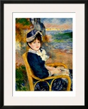 By the Sea Shore Framed Giclee Print by Pierre-Auguste Renoir