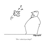 """Nice—what do you charge?"" - New Yorker Cartoon Premium Giclee Print by Charles Barsotti"