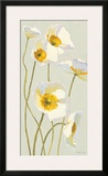White on White Poppies Panel I Poster by Shirley Novak