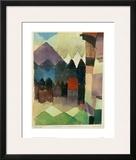 Fohn Wind in Marc's Garden Framed Giclee Print by Paul Klee
