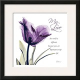 My Love, Purple Tulip Posters by Albert Koetsier