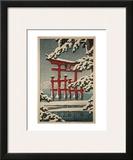 Miyajima in Snow (Yuki no Miyajima), 1929 Posters by Kawase Hasui