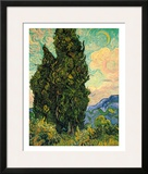 Cypresses, c.1889 Framed Giclee Print by Vincent van Gogh