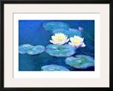 Nenúfares, al atardecer Lámina giclée enmarcada por Claude Monet
