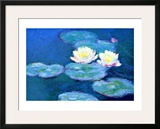 Waterlilies, Evening Framed Giclee Print by Claude Monet