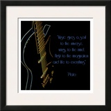 Neon Square Music Quote Poster by Suzanne Foschino