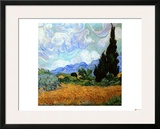 Wheatfield with Cypresses, c.1889 Framed Giclee Print by Vincent van Gogh