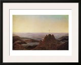 Morning in the Riesengebirge Framed Giclee Print by Caspar David Friedrich