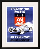 2nd Grand Prix de Paris Framed Giclee Print by Geo Ham