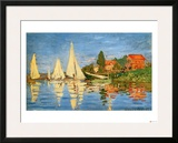 Boating at Argenteuil Framed Giclee Print by Claude Monet