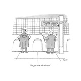 """She got it in the divorce."" - New Yorker Cartoon Premium Giclee Print by Jack Ziegler"