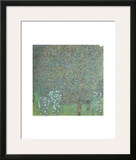 Roses under the Trees Print by Gustav Klimt